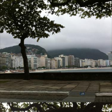 Vista a partir do Forte de Nossa Senhora da Copacabana: o som é uma tranquilidade só