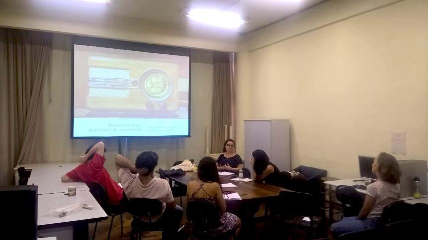 Apresentação aos colegas do GPIT-UFRGS, uma semana antes da defesa (Foto: Dany Silbermann)